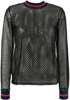 Zoe Karssen sequin mesh top - women - Polyester/Spandex/Elastane/Polybutylene Terephthalate (PBT)/glass - M