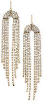Trina Turk Gold-Tone Crystal Fringe Chandelier Earrings