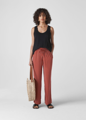 Stripe Wide Leg Trouser