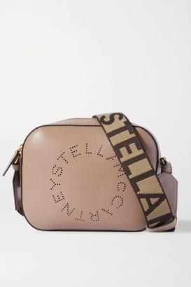 Stella McCartney Perforated Faux Leather Camera Bag - Gray