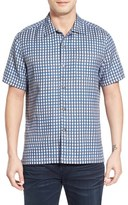 Tommy Bahama Men's 'Squared Up' Regular Fit Windowpane Short Sleeve Sport Shirt