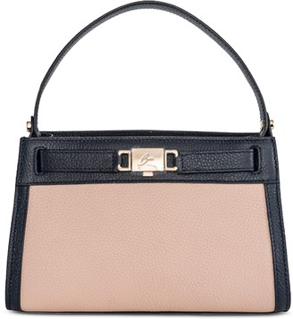 Buti Olivia Two-tone Leather Top-Handle Bag