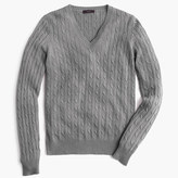 J.Crew Cambridge cable V-neck sweater