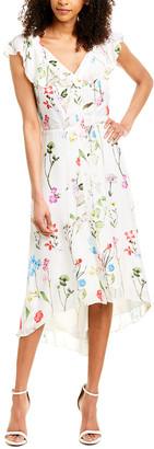 Parker Raven Silk-Blend Midi Dress