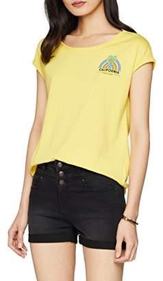 Esprit edc by Women's 058cc1k100 T-Shirt, (White 2 101), X-Large