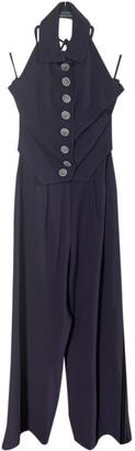 Rochas Purple Wool Jumpsuits