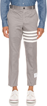 Thom Browne Unconstructed Chino Trouser in Medium Grey | FWRD