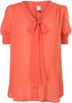 Maternity Bow Front Blouse