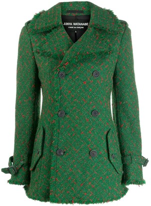 Junya Watanabe Comme Des Garçons Pre Owned Checked Peacoat