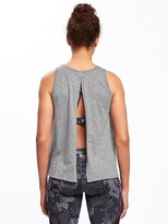 Old Navy Go-Dry Flyaway Slub-Knit Tank for Women