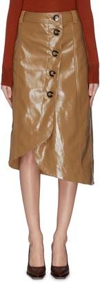 Ganni Patent leather midi skirt