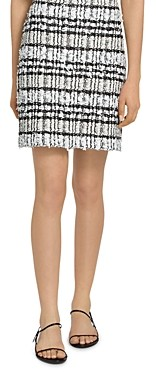 St. John Artisanal Plaid Skirt