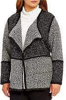 Calvin Klein Plus Blocked Flyaway Sweater