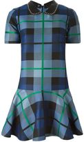 P.A.R.O.S.H. studded collar plaid dress