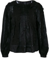 Isabel Marant 'Nell' laced blouse - women - Ramie - 40