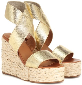 Clergerie Aurore leather wedge sandals