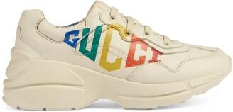 Gucci Children's print Rhyton sneaker