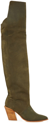 Rodebjer Perforated Suede Knee Boots