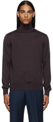 Ermenegildo Zegna Purple Cashmere Turtleneck