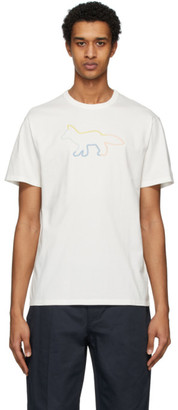 MAISON KITSUNÉ White Rainbow Profile Fox T-Shirt