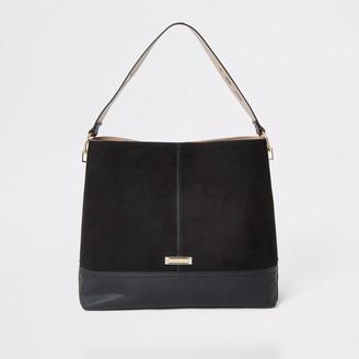 River Island Womens Black slouch bag