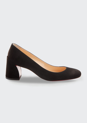 Christian Louboutin Miss Sab Suede Red Sole Pumps