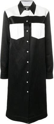 Calvin Klein Contrast Shirt Dress