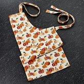 Crate & Barrel Stamped Pumpkins Apron