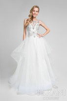 Terani Prom - Glamorous Jewelled Illusion Neck Polyester Ballgown Gown 1711P2828
