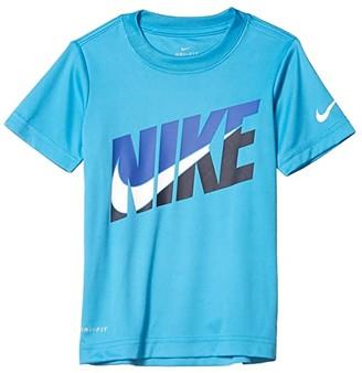 Nike Kids Dri-FITtm Short Sleeve Graphic T-Shirt (Little Kids) (Laser Blue) Boy's Clothing