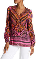 Hale Bob Geometric Lace-Up Tunic