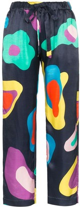 Mira Mikati abstract pattern drawstring trousers