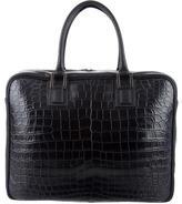 Fendi Crocodile Business Briefcase