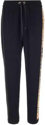 Burberry Check Stripe Track Pants