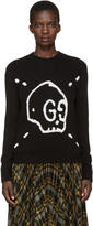 Gucci Black Guccighost Knit Sweater