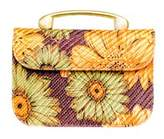 Vanina Alice Orange Flowers Clutch.