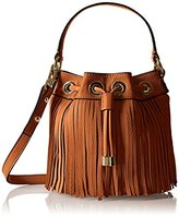Milly Essex Fringe Mini Drawstring Bucket Handbag Cross Body Bag