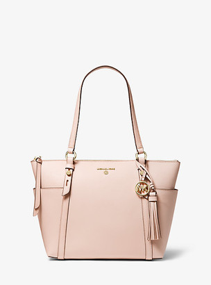 Michael Kors Nomad Medium Saffiano Leather Top-Zip Tote Bag
