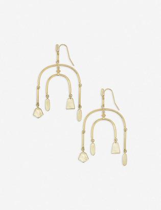 Kendra Scott Nalani Statement 14ct gold-plated earrings