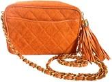 Chanel Camera Orange Tweed Handbags