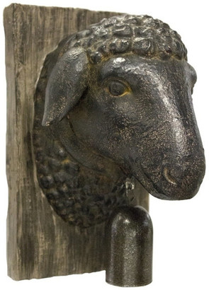 Sagebrook Home Sheep Head With Bell Wall Decor Animal