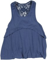 Mimi & Maggie 'Cloud' Top (Toddler/Kids) - Indigo-6X