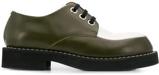 Marni bi-coloured lace-up shoes