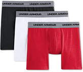 Under Armour Men's Cotton Stretch 6-Inch Boxerjocks 3-Pack