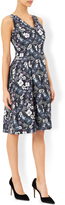 Pansy Print Fit & Flare Dress