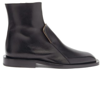 Jil Sander Front-panel Leather Chelsea Boots - Black