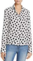 Alice + Olivia Willa Stace Face Silk Shirt