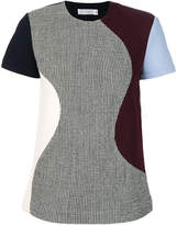 Victoria Beckham houndstooth panelled T-shirt