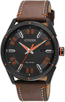 Citizen Men's Drive Brown Leather Strap Watch 42mm BM6995-19E