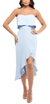 Xscape Evenings Crepe Bustier Ruffle Dress